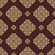 Seamless Orient Vector Background Stock Illustration