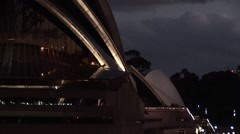 Sydney Opera House Night - stock footage