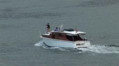 Speed Boat Sydney Stock Footage