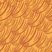 Simple Wave Orange Pattern Stock Illustration