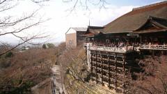 4K Motion Control Pan Time Lapse of Kiyomizudera Temple in Kyoto -Tilt Up- Stock Footage