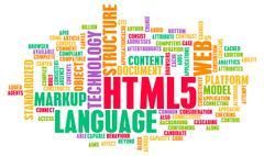 HTML 5 Stock Illustration