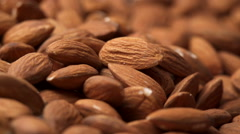 Taking almonds Stock Footage