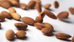 Almonds falling Stock Footage