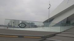 Amsterdam HD Eye film institute entrance Stock Footage