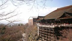 4K Motion Control Pan Time Lapse of Kiyomizudera Temple in Kyoto -Tilt Down- Stock Footage