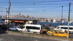 Istanbul Beyoglu From Train Stock Footage