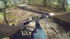 Mountain Biking - POV Cyclist - Chest Mounted Camera HD Stock Footage