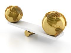 Balance of global financial market Stock Illustration