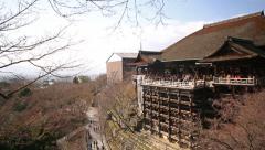 4K Motion Control Pan Time Lapse of Kiyomizudera Temple in Kyoto Stock Footage