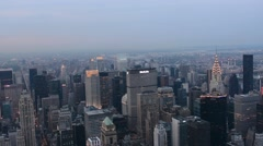 New York City Panoramic View At Dusk Stock Footage