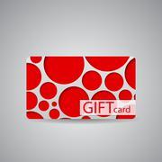 Stock Illustration of Abstract Beautiful Gift Card Design, Vector Illustration