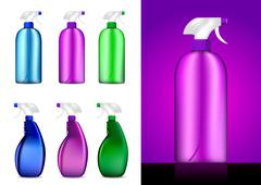 Colorful Spray bottles vector illustrations Stock Illustration