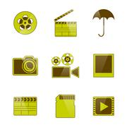 Icons video and photo filming, vector illustration. Stock Illustration