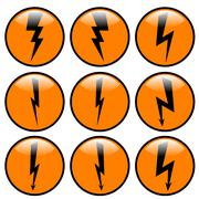 Lightning icon set. Stock Illustration
