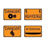 Icons danger. - stock illustration