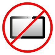 Icon ban tablet computer. - stock illustration