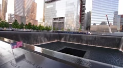 New York City 911 Memorial Buildings Stock Footage