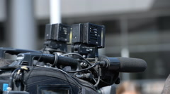 camera operator working with a cinema broadcast - stock footage