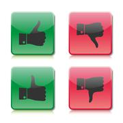 A set of buttons like and dislike, vector illustration - stock illustration