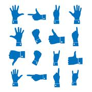 Icons hand, vector illustration. Stock Illustration
