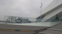 Amsterdam 4K  Eye film institute entrance Stock Footage