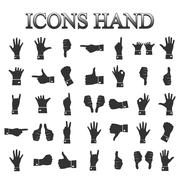 Icons hands, vector Stock Illustration