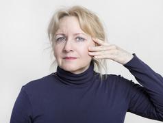 facelift older woman - stock photo