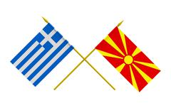 Flags, Greece and Macedonia - stock illustration