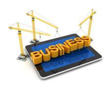 Building online business - stock illustration