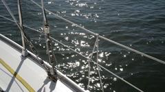 Sailboat. daylight, Tagus river lisbon Portugal Stock Footage
