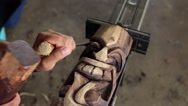 Stock Video Footage of Tiki Carving_06