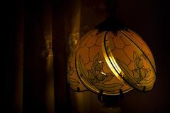 Tiffany Style Lamp Closeup Stock Photos