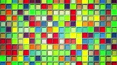 Shimmering colorful squares loopable background 4k (4096x2304) Stock Footage