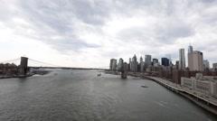 Brooklyn Bridge in New York City, USA Stock Footage