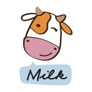 The cheerful cow Stock Illustration