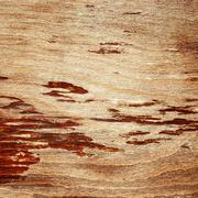 Cracked lacquered wooden board Stock Photos