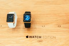 Stock Photo of Apple Watch starts selling worldwide - first smartwatch from Apple Computers