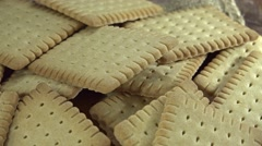 Butter Biscuits (seamless loopable) Stock Footage