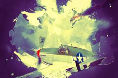 Stock Illustration of P-51B Mustang