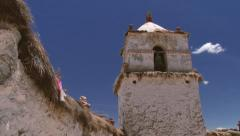 Exterior of the church of the Parinacota village in Lauca National Park, Chile. Stock Footage