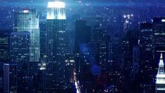 NYC NIGHTS Tiltdown Stock Footage