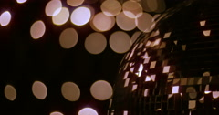 Mirrorball Disco Ball Golden Corner 2 Stock Footage