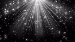 Light rays and stars on black loopable background 4k (4096x2304) Stock Footage