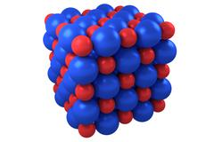 Molecule cubic crystal structure - stock illustration