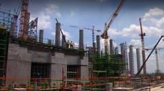 Construction Bolier9 Stock Footage