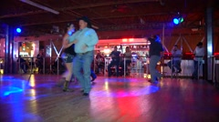 Stock Video Footage of Honkey Tonk Western Dancing