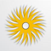 Vector modern sun icon background on white Stock Illustration