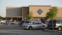 Stock Video Footage of Sams Club Store Exterior