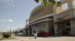 Sprouts Grocery Store Exterior Stock Footage